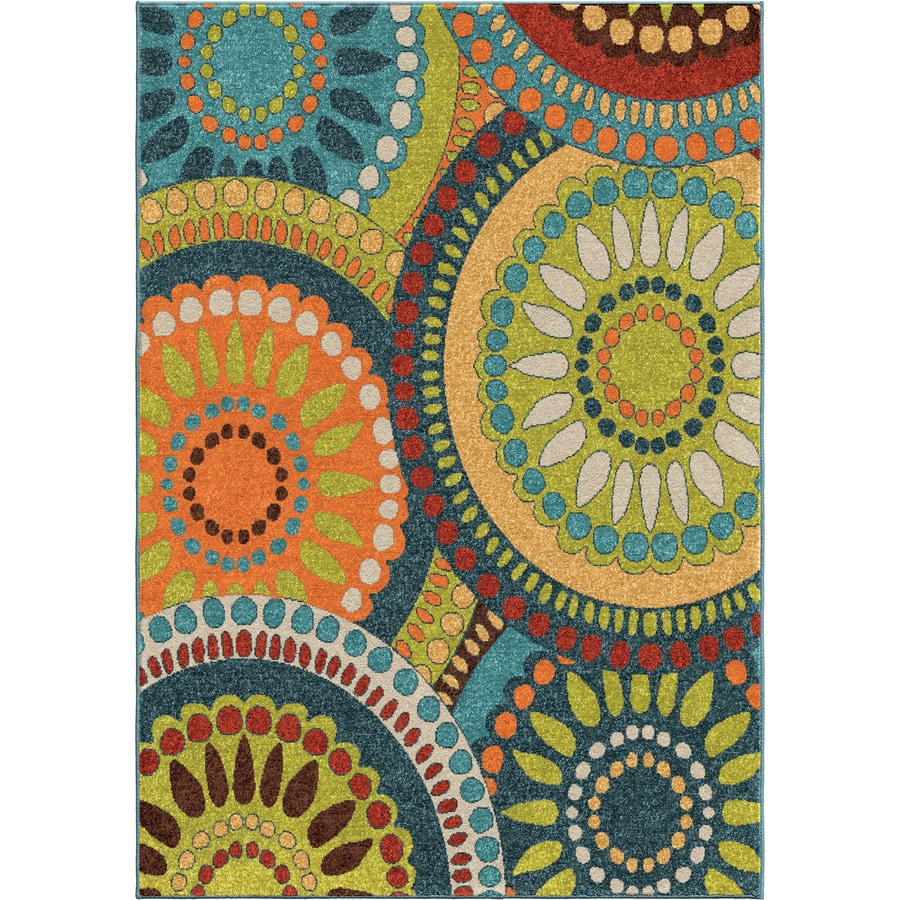 Outdoor Rug 7 X 10: Orian Rugs Pinwheel Green Indoor/Outdoor Novelty Area Rug