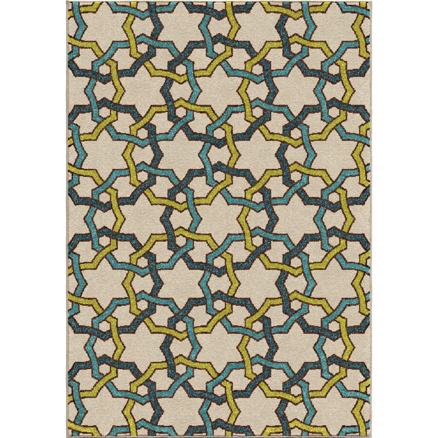 Orian Rugs Luxe Multi Rectangular Indoor/Outdoor Machine-made Novelty Area Rug (Common: 8 x 11; Actual: 7.67-ft W x 10.83-ft L)