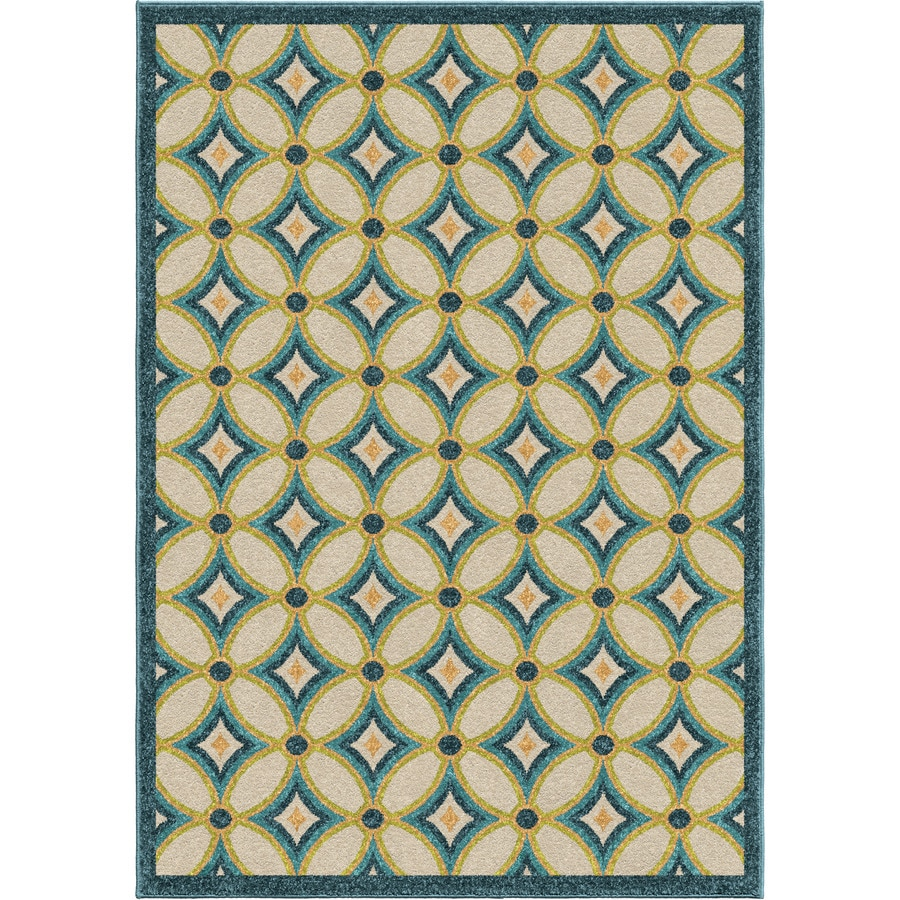 Orian Rugs Grezzana Multi Rectangular Indoor/Outdoor Machine-made Novelty Area Rug (Common: 5 x 8; Actual: 5.17-ft W x 7.5-ft L)