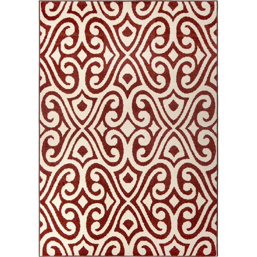 Orian Rugs Eutaw Red Rectangular Indoor/Outdoor Machine-made Novelty Area Rug (Common: 5 x 8; Actual: 5.17-ft W x 7.5-ft L)