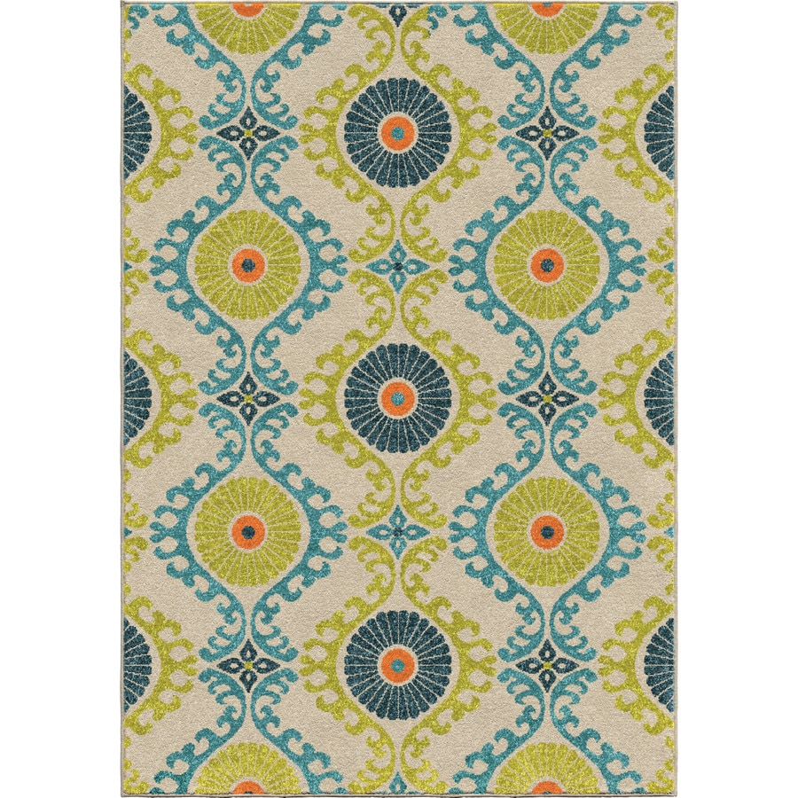 Orian Rugs Floating Floral Indoor/Outdoor Nature Area Rug (Common: 5 x 8; Actual: 5.17-ft W x 7.5-ft L)