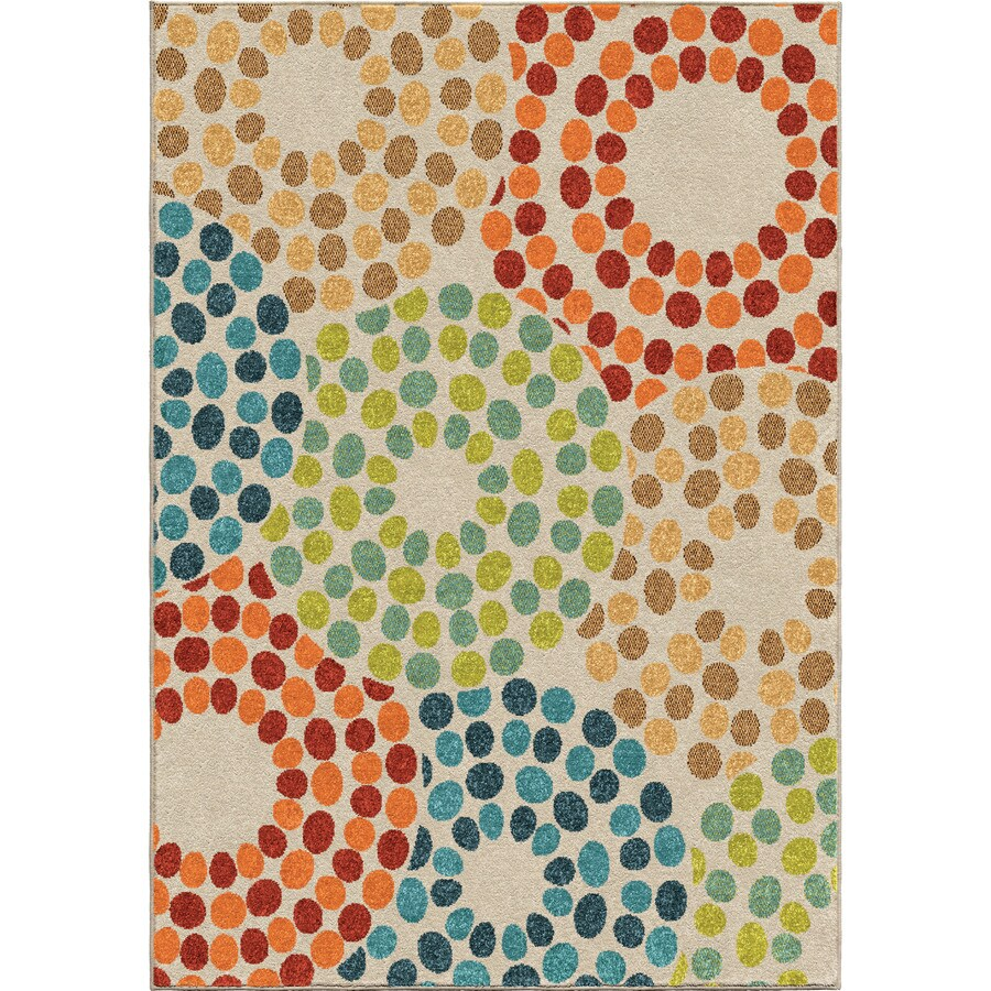 Orian Rugs Promise Multi Rectangular Indoor/Outdoor Machine-made Novelty Area Rug (Common: 8 x 11; Actual: 7.67-ft W x 10.83-ft L)