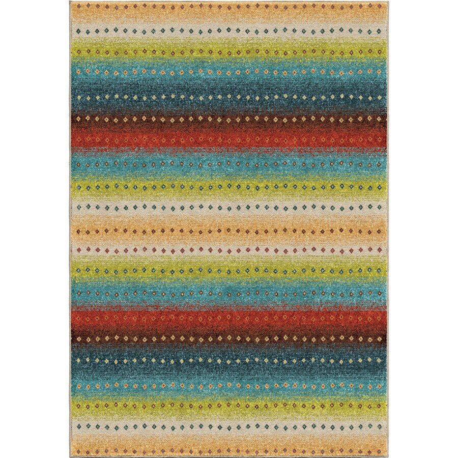 Orian Rugs Promise Multi Rectangular Indoor/Outdoor Machine-made Novelty Area Rug (Common: 5 x 8; Actual: 5.17-ft W x 7.5-ft L)