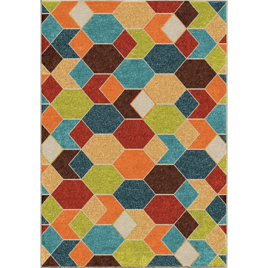 Orian Rugs Spectacle Multi Rectangular Indoor/Outdoor Machine-made Novelty Area Rug (Common: 8 x 11; Actual: 7.67-ft W x 10.83-ft L)