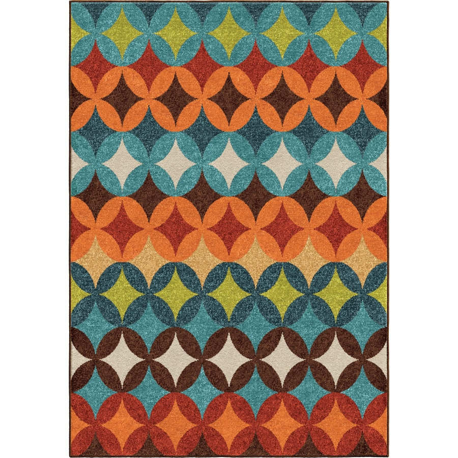 Orian Rugs Strawberry Fld Multi Rectangular Indoor/Outdoor Machine-made Novelty Area Rug (Common: 5 x 8; Actual: 5.17-ft W x 7.5-ft L)