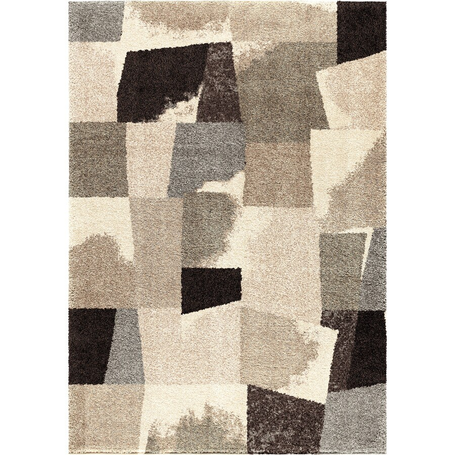 Orian Rugs Ralston Beige Rectangular Indoor Machine-made Novelty Area Rug (Common: 7 x 10; Actual: 6.58-ft W x 9.67-ft L)
