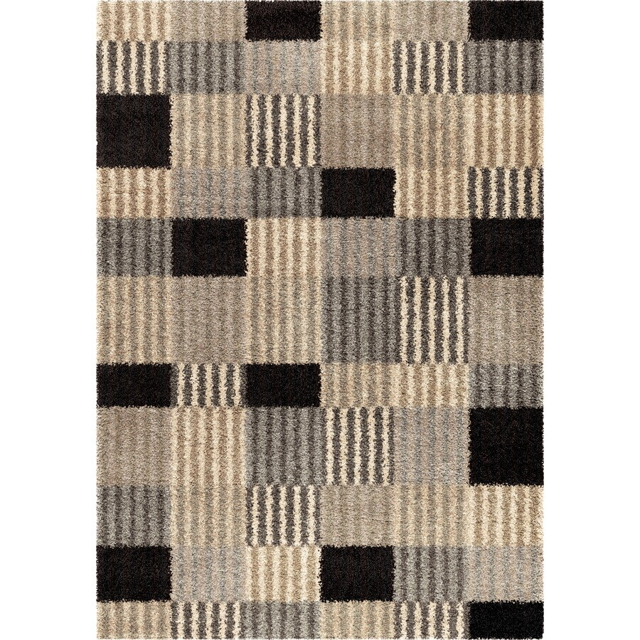 Orian Rugs Woven Steel Gray Rectangular Indoor Machine-made Novelty Area Rug (Common: 5 x 8; Actual: 5.25-ft W x 7.5-ft L)