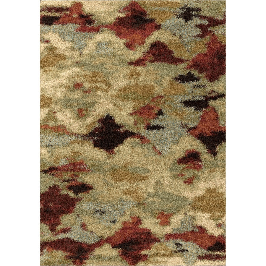 Orian Rugs Tarnen Ivory Rectangular Indoor Machine-made Novelty Area Rug (Common: 5 x 8; Actual: 5.25-ft W x 7.5-ft L)