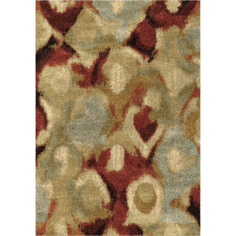 Orian Rugs Dewy Scene Ivory Rectangular Indoor Machine-made Novelty Area Rug (Common: 5 x 8; Actual: 5.25-ft W x 7.5-ft L)
