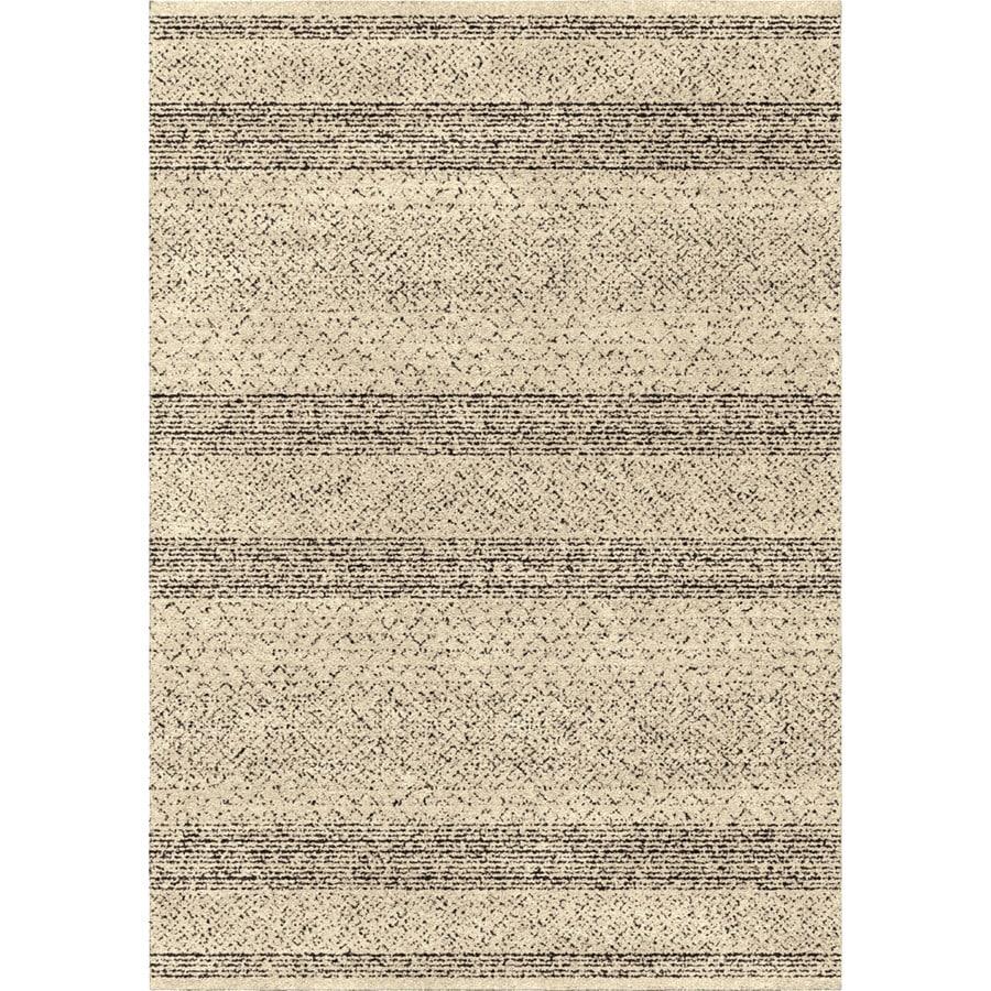 Orian Rugs Stronda Black Rectangular Indoor Machine-made Novelty Area Rug (Common: 5 x 8; Actual: 5.25-ft W x 7.5-ft L)