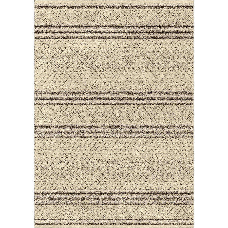 Orian Rugs Stronda Black Rectangular Indoor Machine-made Novelty Area Rug (Common: 8 x 11; Actual: 7.83-ft W x 10.83-ft L)