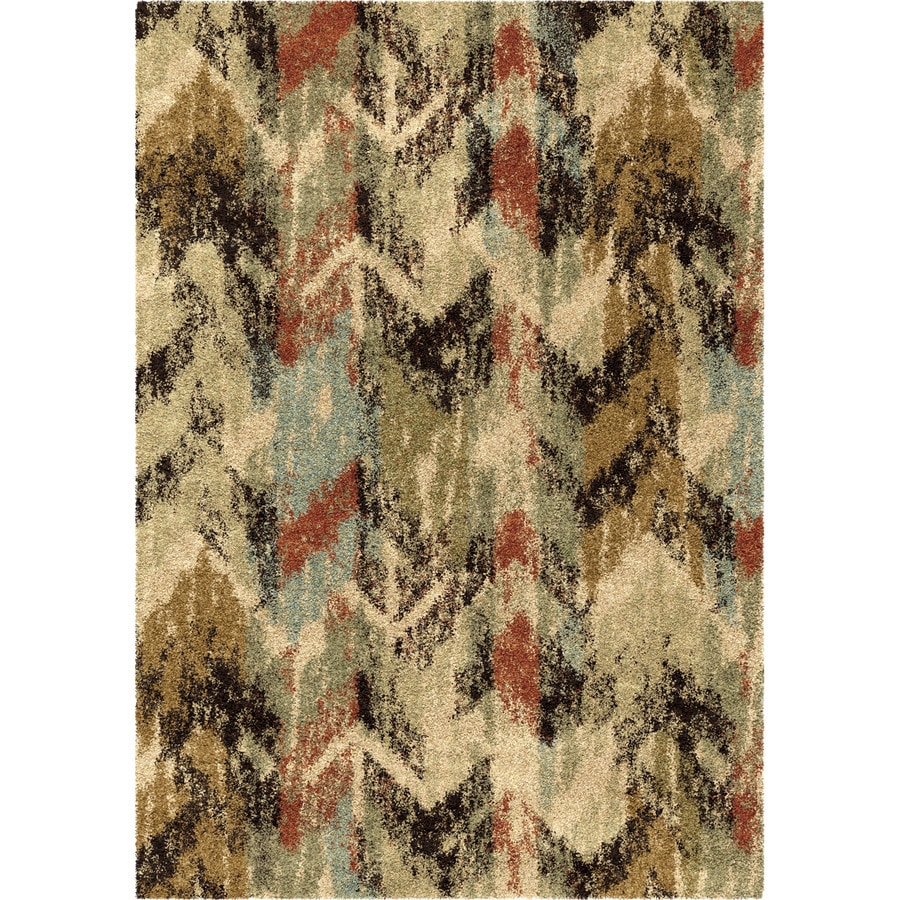 Orian Rugs Arcadia Multi Rectangular Indoor Machine-made Novelty Area Rug (Common: 5 x 8; Actual: 5.25-ft W x 7.5-ft L)