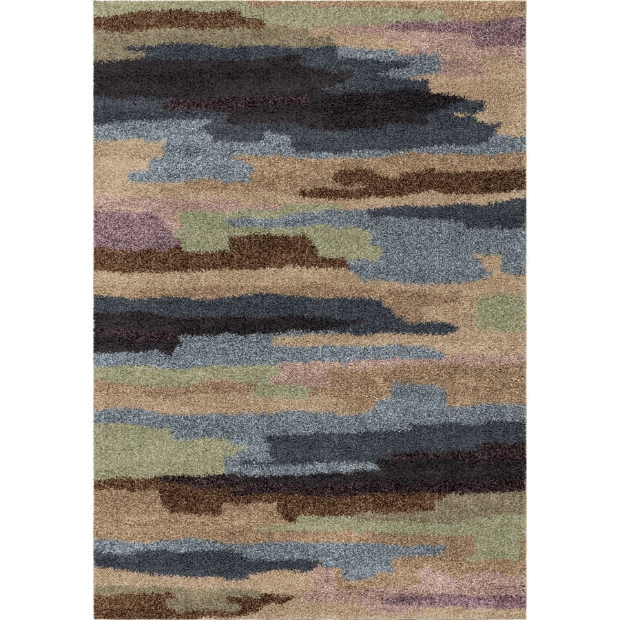 Orian Rugs Blended Sky Multi Rectangular Indoor Machine-made Novelty Area Rug (Common: 5 x 8; Actual: 5.25-ft W x 7.5-ft L)