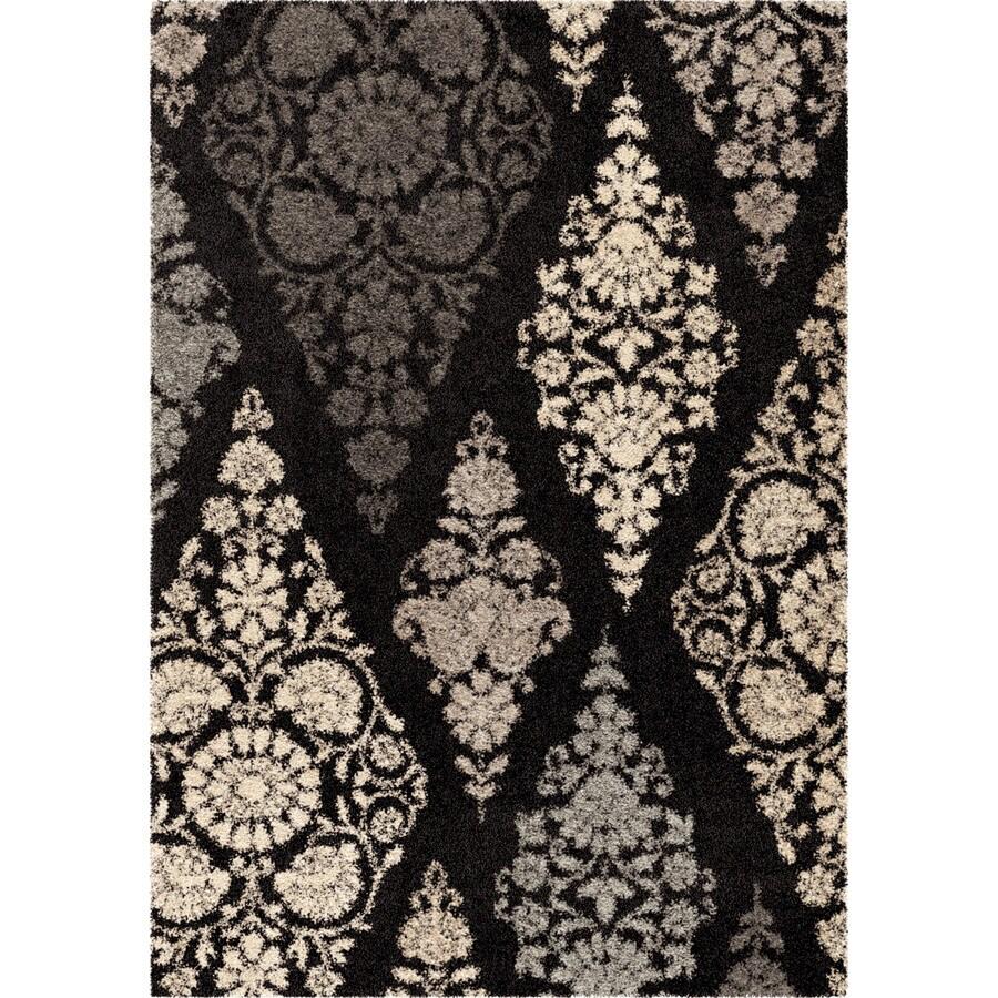 Orian Rugs Diamond Scroll Black Rectangular Indoor Machine-made Nature Area Rug (Common: 8 x 11; Actual: 7.83-ft W x 10.83-ft L)