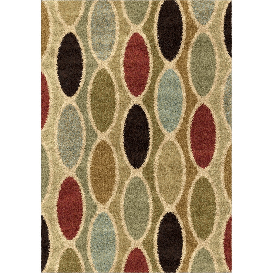 Orian Rugs Oval Train Brown Rectangular Indoor Machine-made Novelty Area Rug (Common: 5 x 8; Actual: 5.25-ft W x 7.5-ft L)