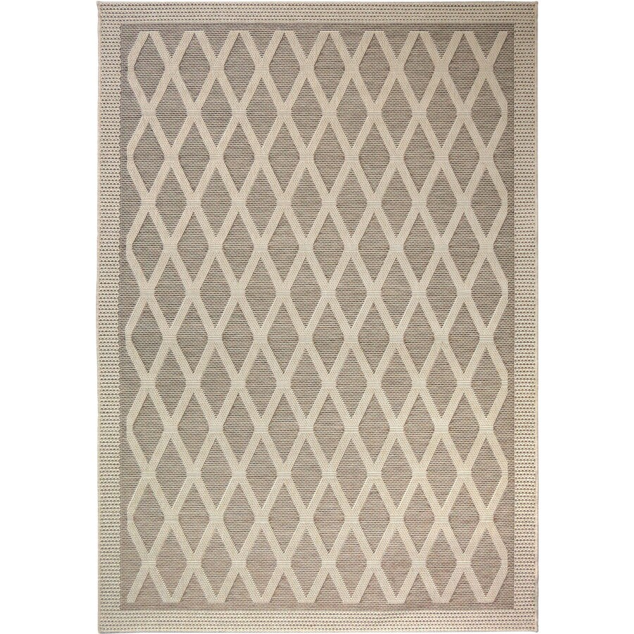 Orian Rugs Regal Dimensions Sand Indoor Outdoor Area Rug Common 5 X 7