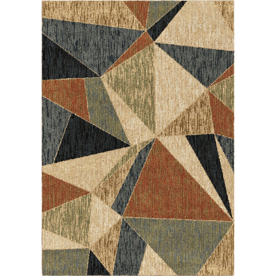 Orian Rugs Glass Pane Ivory Rectangular Indoor Machine-made Novelty Area Rug (Common: 5 x 8; Actual: 5.25-ft W x 7.5-ft L)