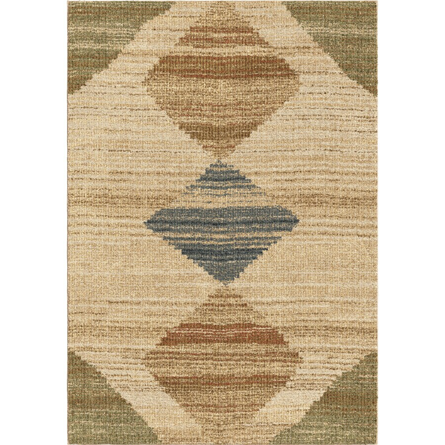 Orian Rugs New Horizons Beige Rectangular Indoor Machine-made Novelty Area Rug (Common: 5 x 8; Actual: 5.25-ft W x 7.5-ft L)
