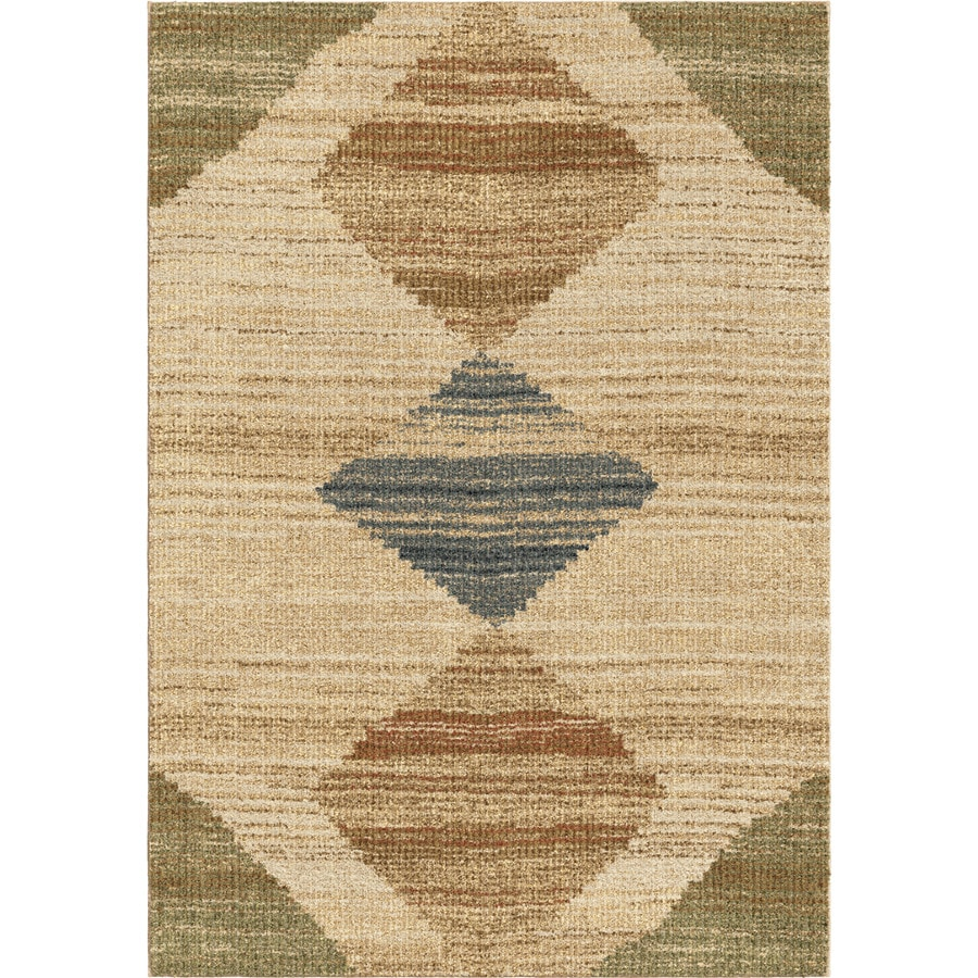 Orian Rugs New Horizons Beige Rectangular Indoor Machine-Made Novelty Area Rug (Common: 8 x 11; Actual: 7-ft W x 10-ft L)