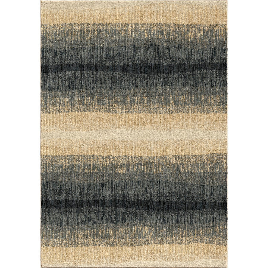 Orian Rugs Fading Bl Lines Blue Rectangular Indoor Machine-made Novelty Area Rug (Common: 5 x 8; Actual: 5.25-ft W x 7.5-ft L)
