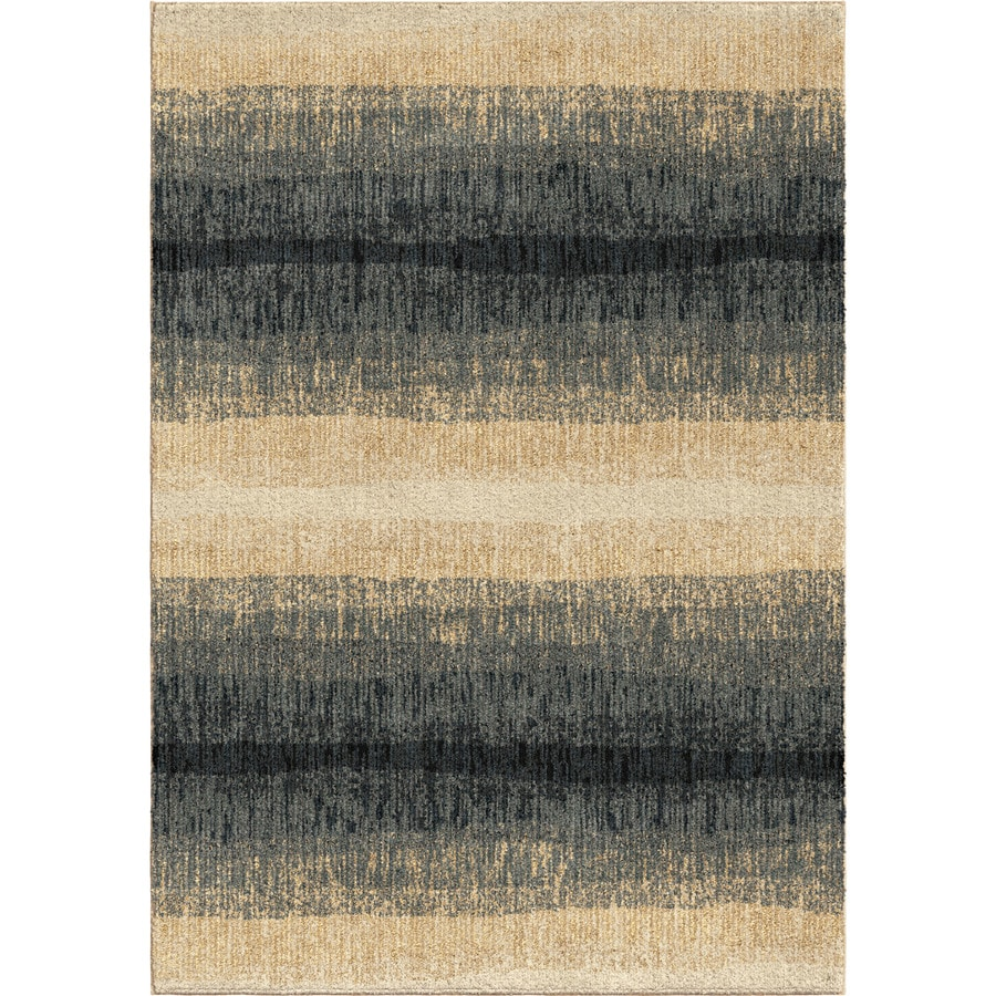 Orian Rugs Fading Bl Lines Blue Rectangular Indoor Machine-made Novelty Area Rug (Common: 8 x 11; Actual: 7.83-ft W x 10.83-ft L)