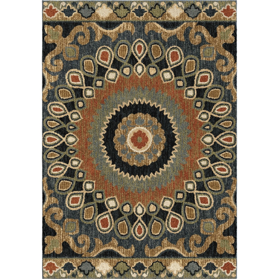 Orian Rugs Global Scope Brown Indoor Novelty Area Rug (Common: 8 x 11; Actual: 7.83-ft W x 10.83-ft L)
