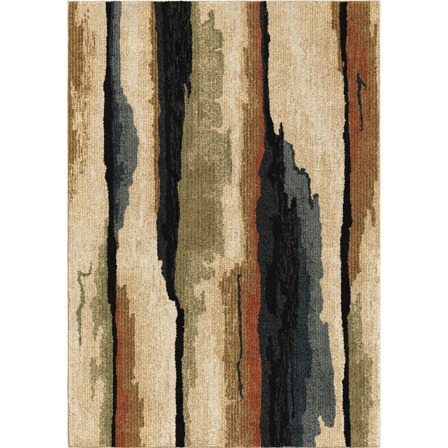 Orian Rugs Colored Bark Beige Rectangular Indoor Machine-made Novelty Area Rug (Common: 5 x 8; Actual: 5.25-ft W x 7.5-ft L)