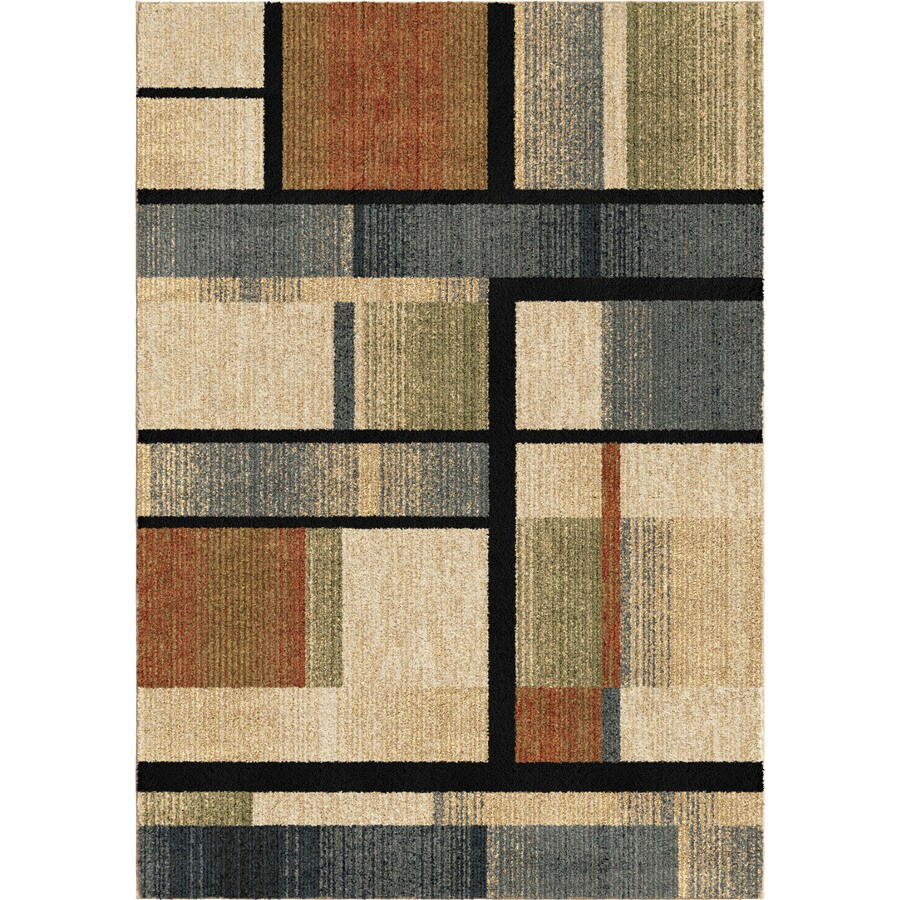 Orian Rugs Blocked Colors Multi Rectangular Indoor Machine-made Novelty Area Rug (Common: 5 x 8; Actual: 5.25-ft W x 7.5-ft L)