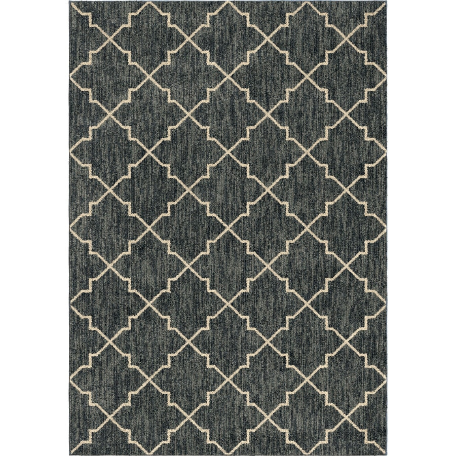 Orian Rugs Looking Glass Blue Rectangular Indoor Machine-made Novelty Area Rug (Common: 5 x 8; Actual: 5.25-ft W x 7.5-ft L)