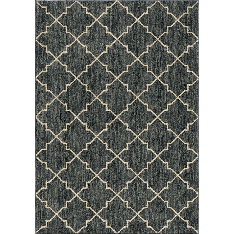 Orian Rugs Looking Glass Blue Rectangular Indoor Machine-made Novelty Area Rug (Common: 8 x 11; Actual: 7.83-ft W x 10.83-ft L)