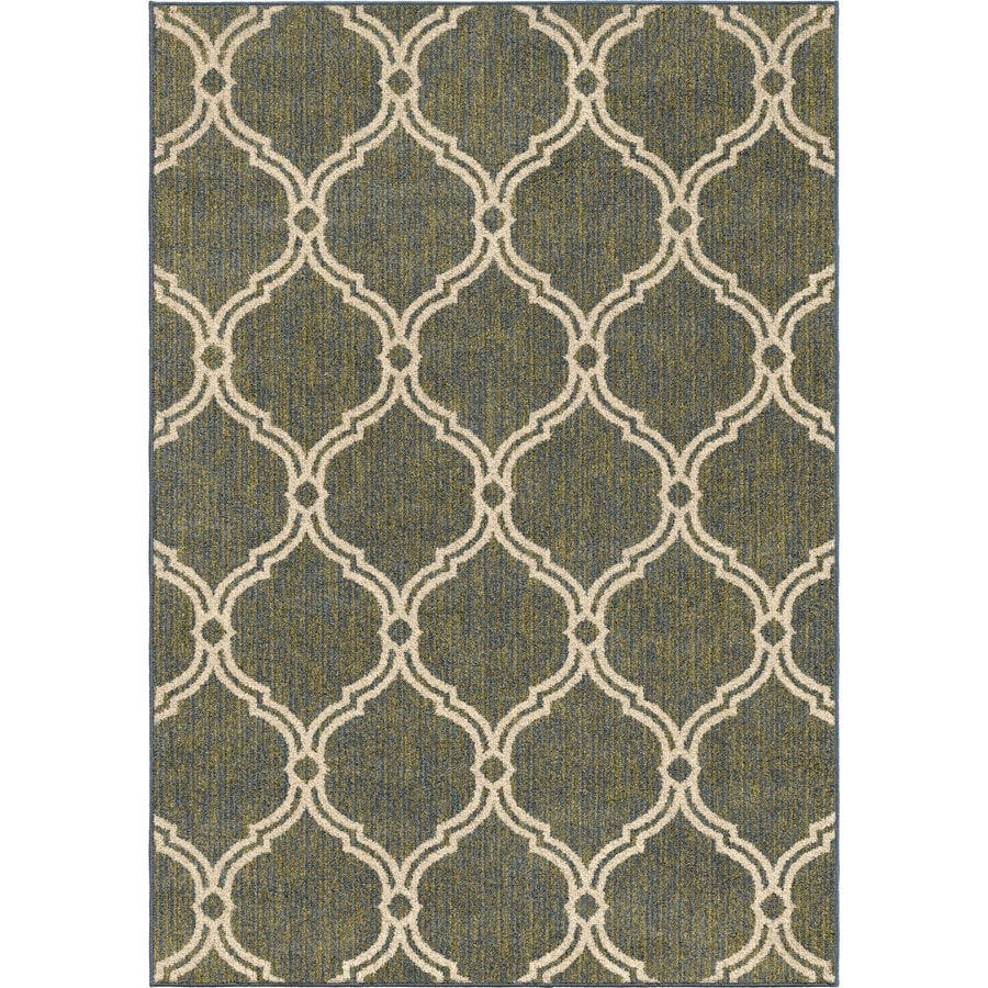 Orian Rugs Glamour Green/Blue Rectangular Indoor Machine-made Distressed Area Rug (Common: 5 x 7; Actual: 5-ft W x 7-ft L)