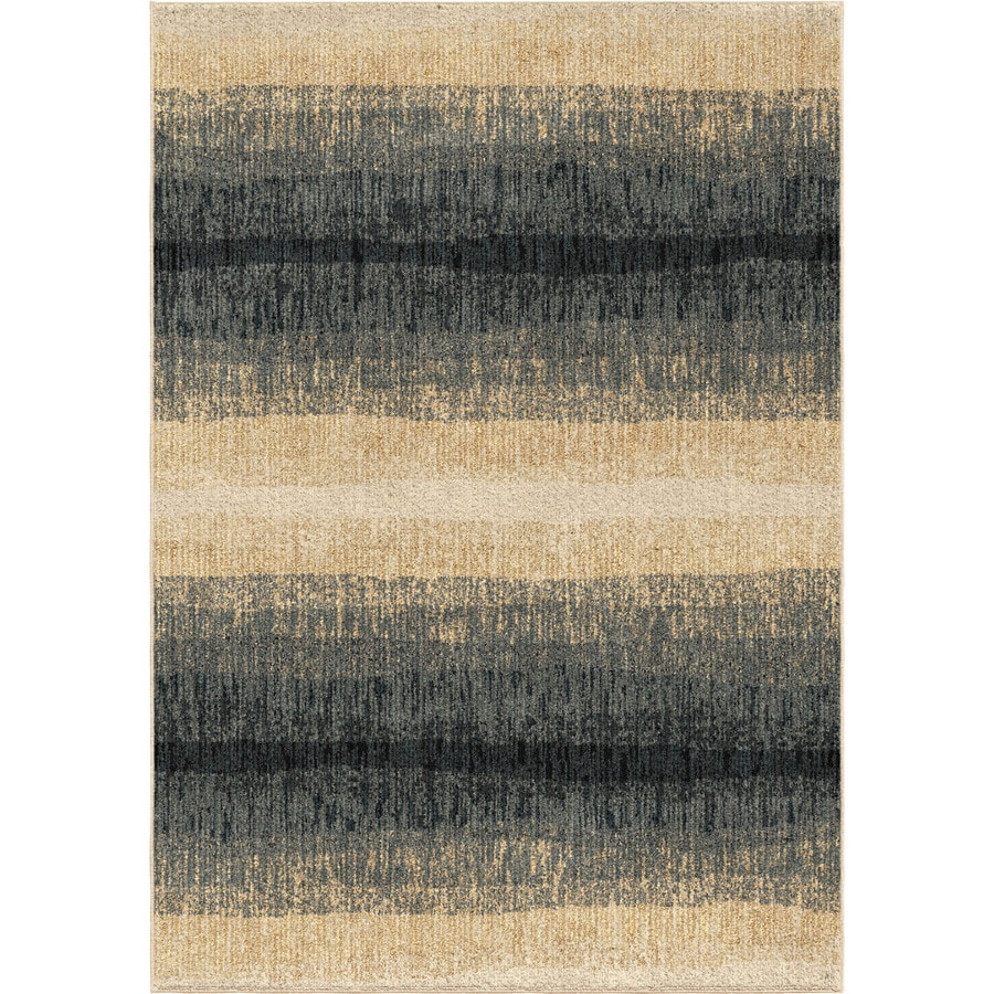 Orian Rugs Glamour Beige-Blue Rectangular Indoor Machine-made Coastal Area Rug (Common: 5 x 7; Actual: 5-ft W x 7-ft L)