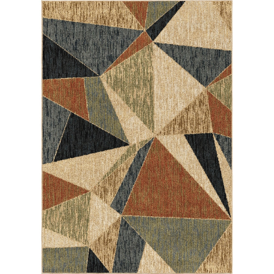 Orian Rugs Glamour Beige-Multi Rectangular Indoor Machine-made Nature Area Rug (Common: 5 x 7; Actual: 5-ft W x 7-ft L)