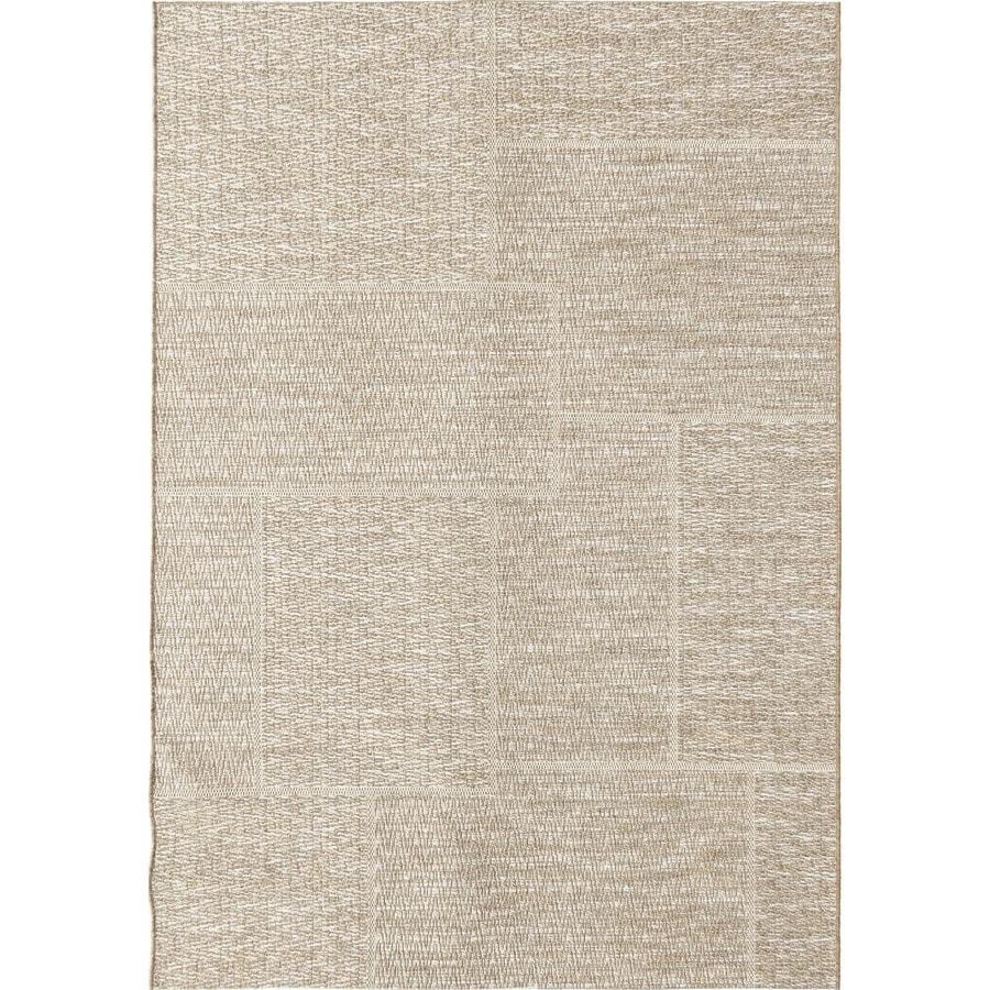 Orian Rugs Squared Sand Beige Rectangular Indoor/Outdoor Machine-made Coastal Area Rug (Common: 5 x 8; Actual: 5.08-ft W x 7.5-ft L)