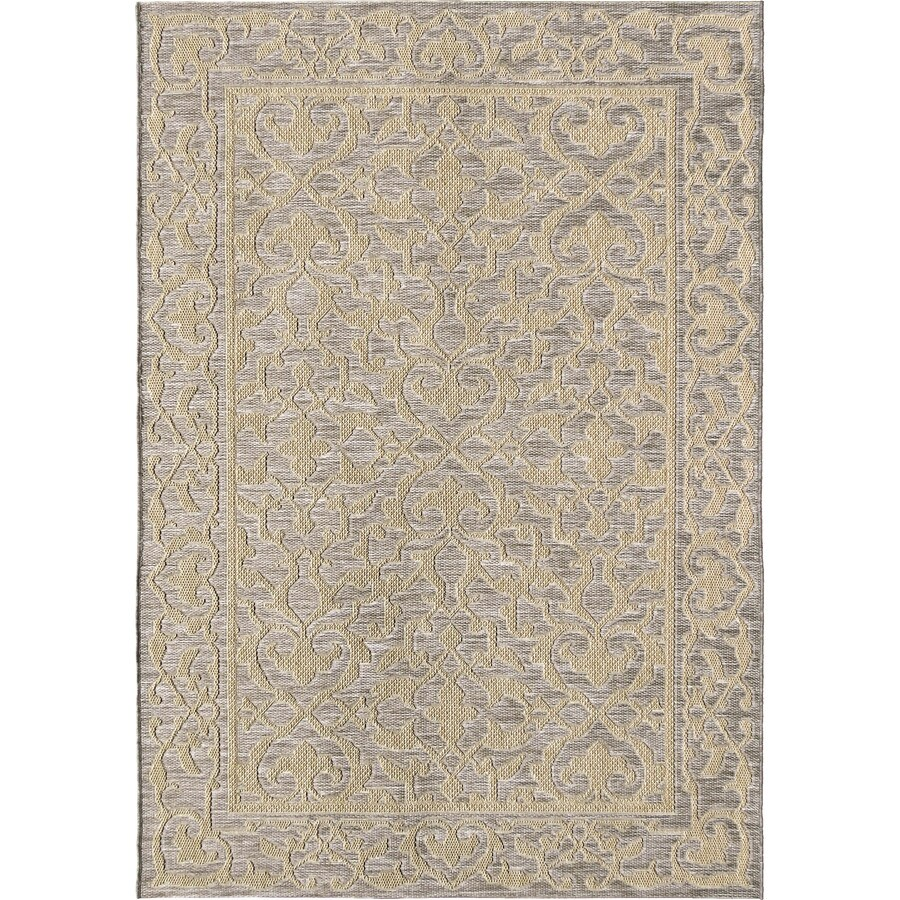 Orian Rugs Patterson Charcoal: Orian Rugs Alexa Light Blue Indoor/Outdoor Coastal Area