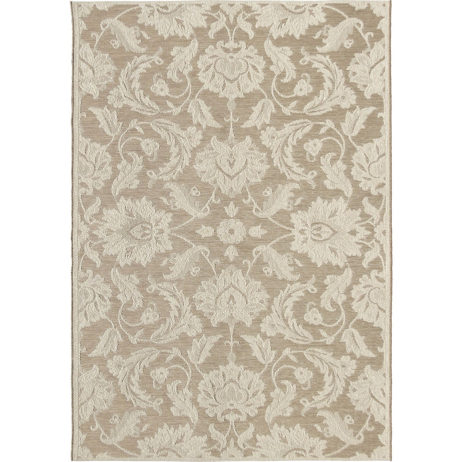 Orian Rugs Vines Texture Beige Indoor/Outdoor Coastal Area Rug (Common: 8 x 11; Actual: 7.58-ft W x 10.83-ft L)