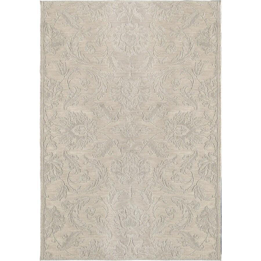 Orian Rugs Vines Texture Ivory Indoor/Outdoor Coastal Area Rug (Common: 5 x 8; Actual: 5.08-ft W x 7.5-ft L)