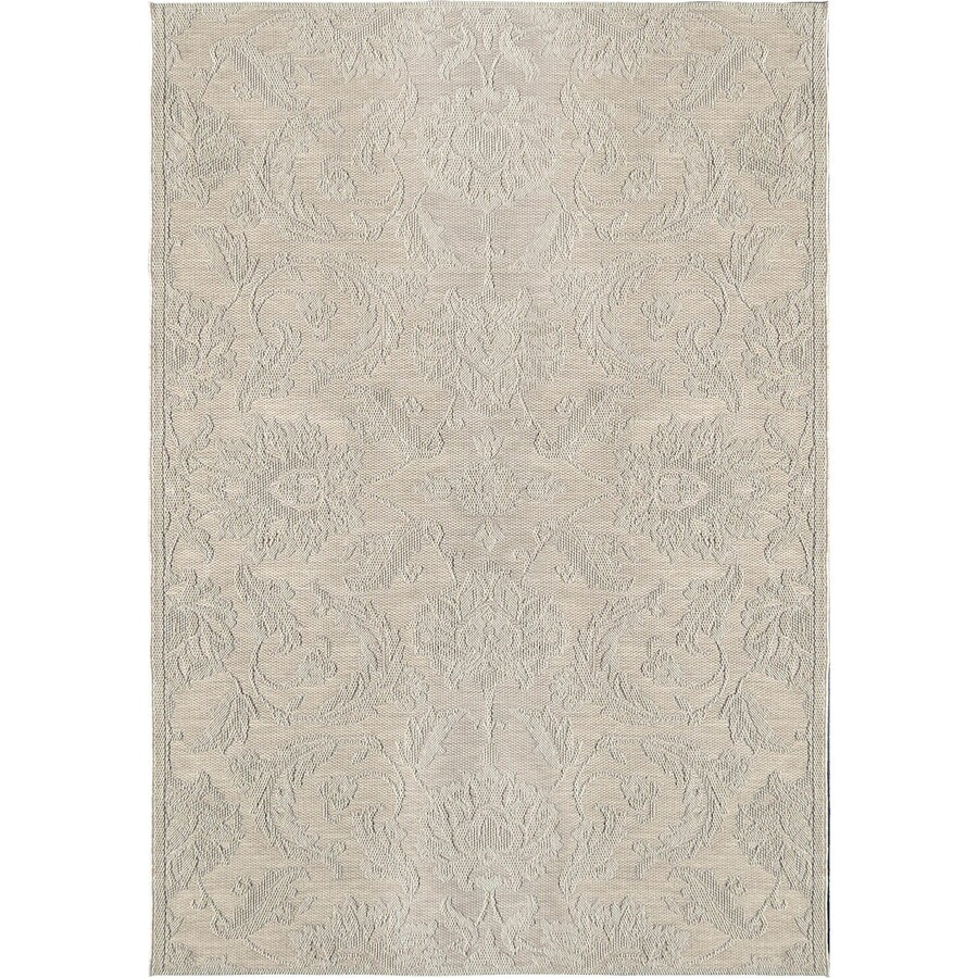 Orian Rugs Vines Texture Ivory Rectangular Indoor/Outdoor Machine-made Coastal Area Rug (Common: 8 x 11; Actual: 7.58-ft W x 10.83-ft L)