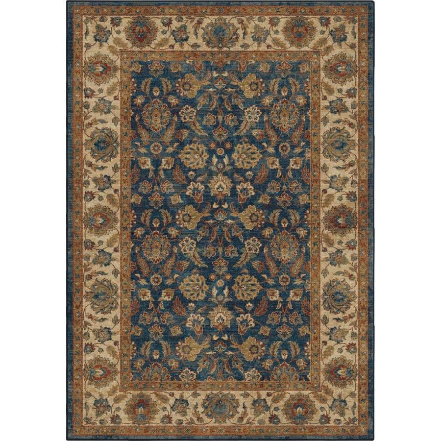 Orian Rugs Bohemian Worley 8 X 11 Navy Indoor Geometric Bohemian Eclectic Area Rug In The Rugs Department At Lowes Com