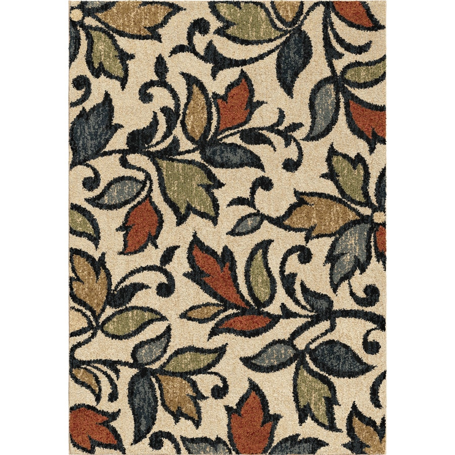 allen + roth Bressay Off-white Rectangular Indoor Machine-Made Nature Area Rug (Common: 5 x 7; Actual: 5.25-ft W x 7.5-ft L)