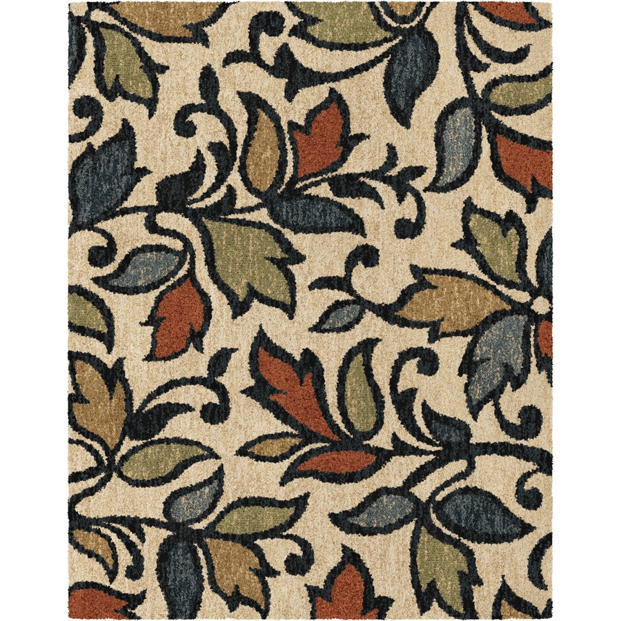 Shop Allen Roth Bressay Off White Indoor Nature Area Rug