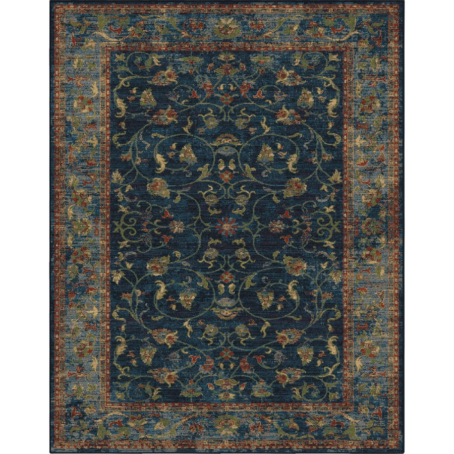 Allen Roth Breelynn Navy Indoor Oriental Area Rug