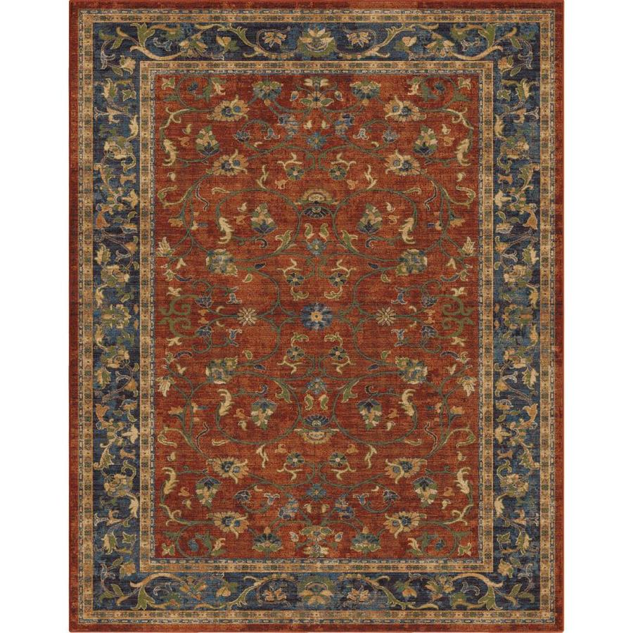 Allen Roth Allen And Roth Red Indoor Oriental Area Rug