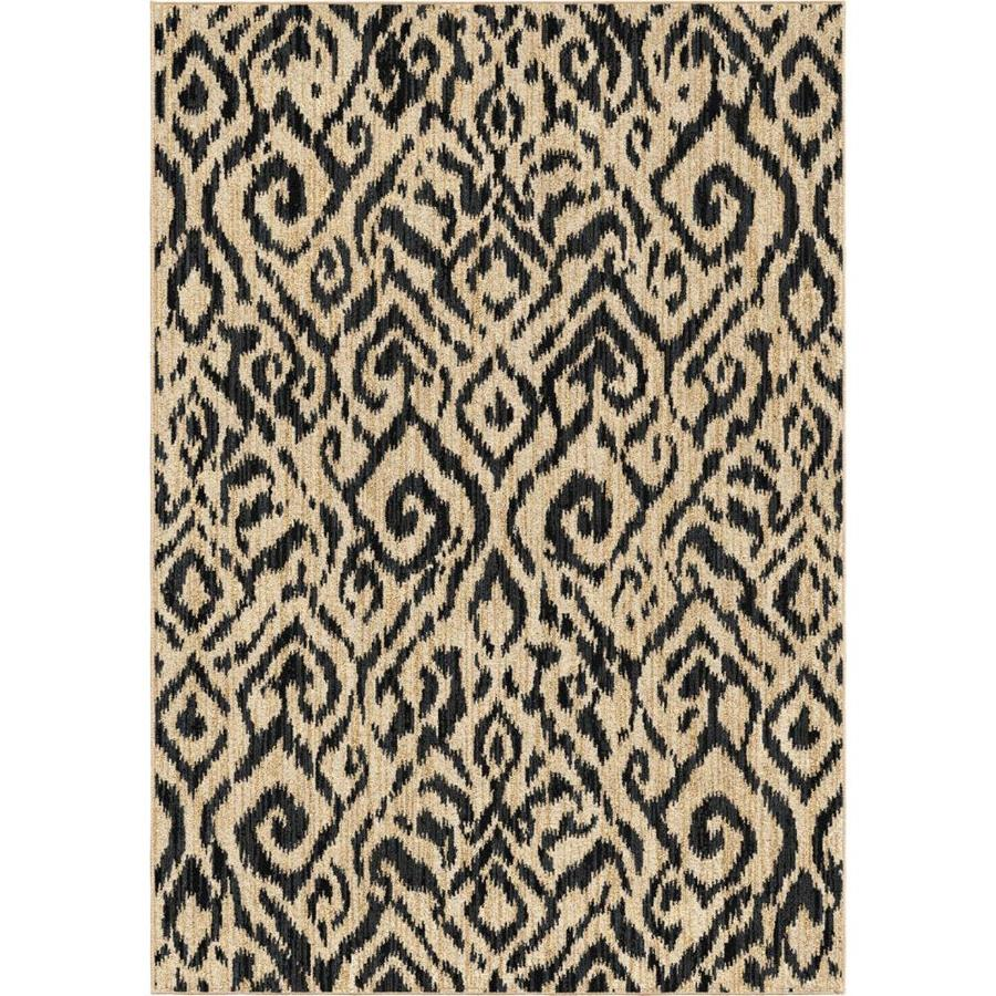Orian Rugs Glamour Beige Area Rug (Common: 5 x 7; Actual: 5-ft W x 7-ft L)