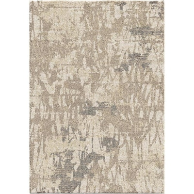 Orian Rugs Super Shag Abstract Canopy Ivory Indoor Mid