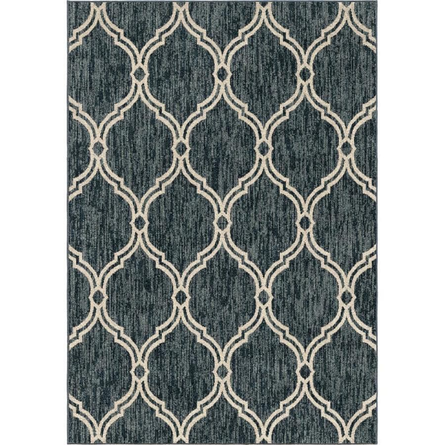 Allen Roth Daislen Blue Indoor Area Rug Common 5 X 8