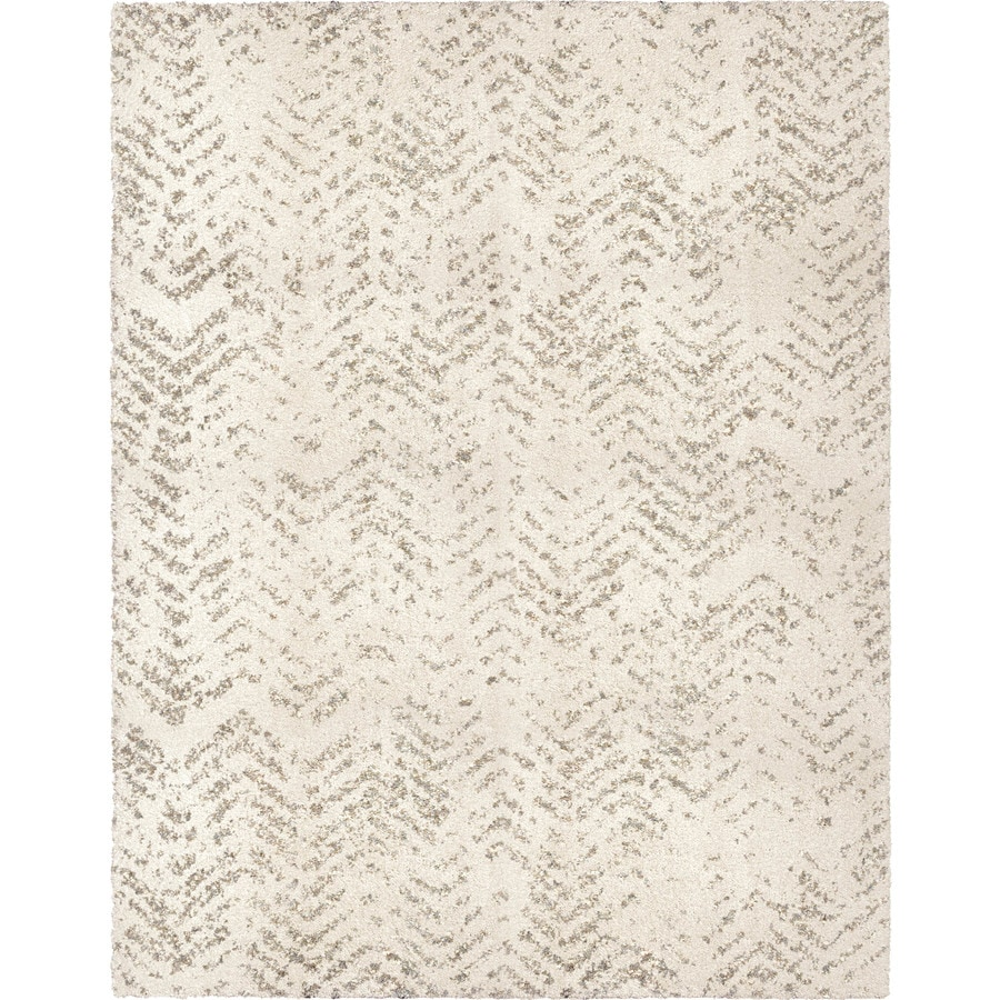 Allen Roth Alvida Off White Indoor Distressed Area Rug