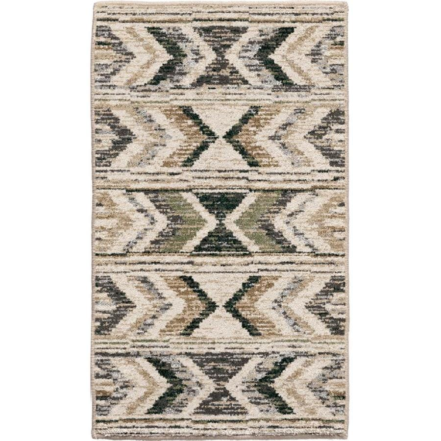 Allen Roth Radley 8 X 10 Beige Indoor Geometric Southwestern Area Rug In The Rugs Department At Lowes Com
