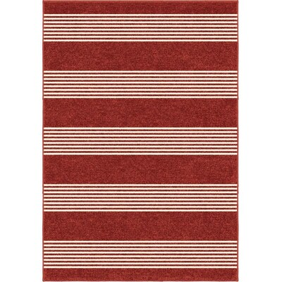 Orian Rugs Farmhouse Portsmouth Red