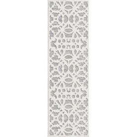 Orian Rugs Olenna 2 x 8 Natural Indoor/Outdoor Floral/Botanical Farmhouse/Cottage Runner
